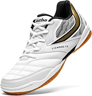 Squash Shoes Men, LIZARDO 1X Indoor Court Shoe Best for Badminton Racquetball Volleyball Pickleball Table Tennis Indoor Cricket, Classic Comfortable Sneaker, Non Marking Non-Skid Rubber Sole