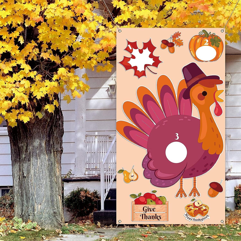 Jiudungs Thanksgiving Bean Bag Toss Turkey L Pumpkin Games Maple Ranking TOP2 Cheap SALE Start