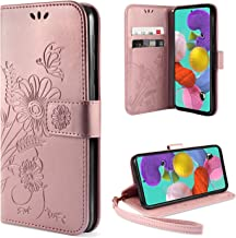 ivencase Funda para Samsung Galaxy A51, Libro Caso Cubierta la Tapa magnética Protector de Billetera Cuero de la PU Carcasa para Samsung Galaxy A51 - Oro Rosa