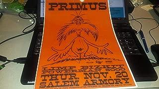 PRIMUS/Les Claypool signed Salem Armory 11x17