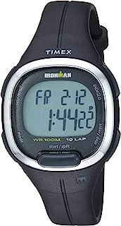 Timex Women's TW5M19600 Ironman Transit Mid-Size Black/Silver-Tone Resin Strap Watch