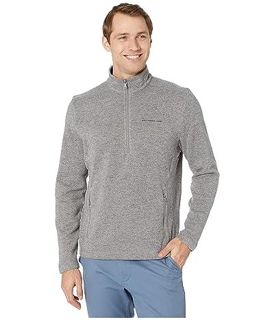 Southern Tide Samson Peak Sweater Fleece 1/4 Zip Pullover (Steel Grey) Men