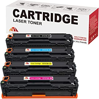 Mony Compatible Toner Cartridge Replacement for HP 131A 131X CF210X CF211A CF212A CF213A (1 Black, 1 Cyan, 1 Magenta, 1 Yellow) Used in HP LaserJet Pro 200 color M251n M251nw, MFP M276n M276nw Printer