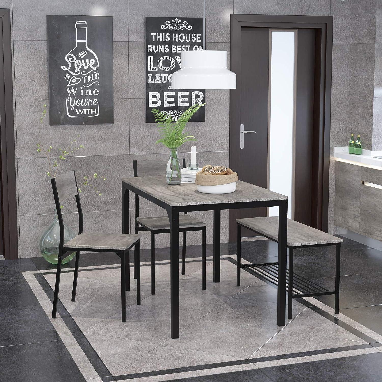 1年保証 Teraves Dining Table Set for 4 Kitchen 送料無料 Desk with Computer