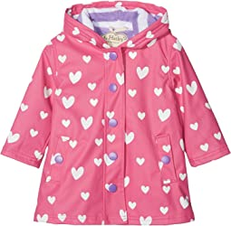 Hatley Kids - Color Changing Floating Hearts Splash Jacket (Toddler/Little Kids/Big Kids)