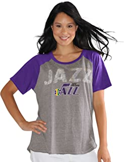 Touch by Alyssa Milano NBA New Orleans Jazz Conference Tee Plus, 2X, Heather Grey