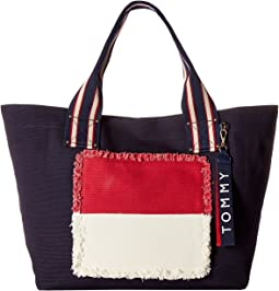 Tommy Hilfiger - Classic Tommy Fray Flag Canvas Tote
