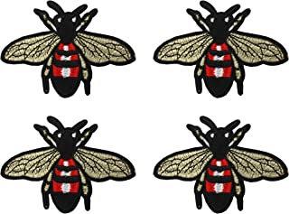 Zeng Bee Embroidered Iron-On Patch, Embroidery Applique by DIY Cloth Art Embroidery Decoration Jeans Hats Blouses Sewing sew Shirts Appliques
