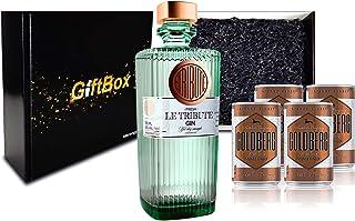 Gin Tonic Giftbox Geschenkset - Le Tribute Gin 0,7l 43% Vol  4x Goldberg Intense Ginger 150ml inkl. Pfand EINWEG - Enthält Sulfite