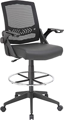 Boss Office Products B16223-BK Drafting Stool with Black
