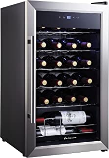Kalamera KRC-24SS 24 Bottle Single Zone Wine Cooler Small Fridge, Black