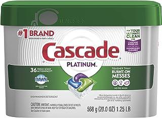 Cascade Platinum Dishwasher Pods, ActionPacs Detergent, Fresh Scent, 36 count