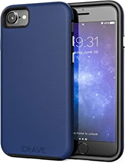 iPhone 8 Case, iPhone 7 Case, Crave Dual Guard Protection Series Case for Apple iPhone 8/7 (4.7 Inch) - Black Blue CRVGGi7103