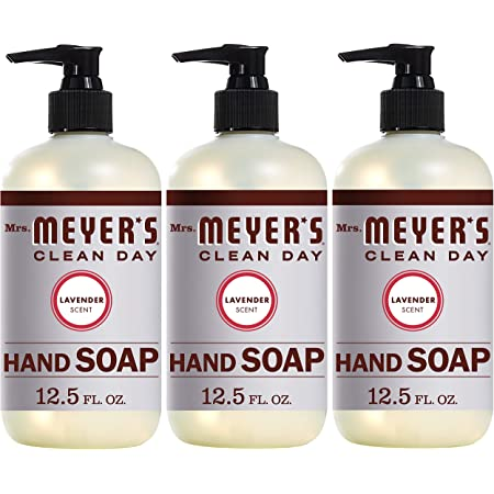 Mrs. Meyer's Clean Day Liquid Hand Soap, Cruelty Free and Biodegradable Hand Wash Formula Made with Essential Oils, Lavender Scent, 12.5 oz - Pack of 3