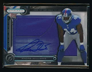 ANDRE WILLIAMS 2014 TOPPS STRATA CLEAR CUT ROOKIE JERSEY RC AUTO *GIANTS*