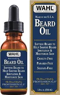 Wahl Beard Oil with Essential Oils for Moisturizing Skin & Beard Hair – Manuka Oil, Meadowfoam Seed Oil, Clove Oil, Moringa Oil – 1 Oz