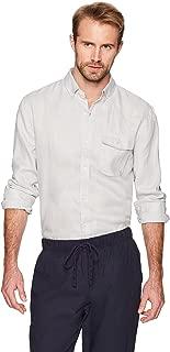 Men's Standard-Fit 100% Linen Long-Sleeve Button-Down Woven Casual Shirt