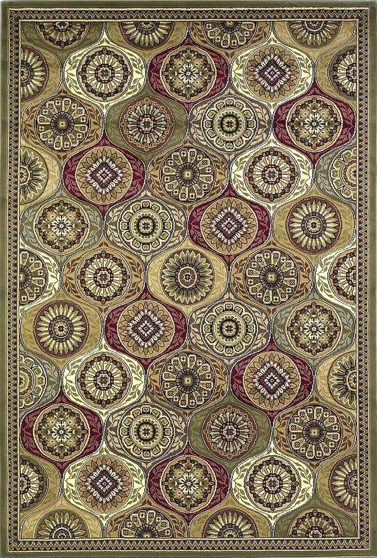 KAS Rugs 7345 Cambridge Mosaic Area Rug, 20 by 31Inch, Multicolor