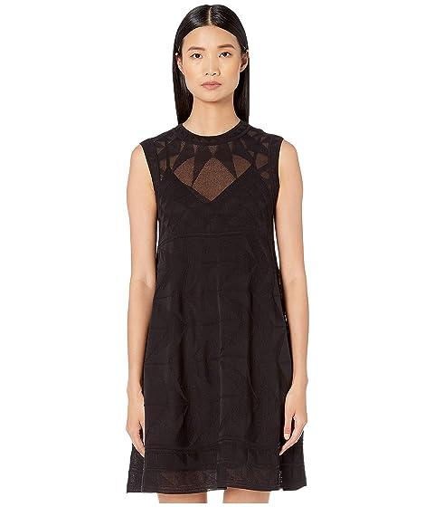 M Missoni Sleeveless Short Dress in Geometric Stitch