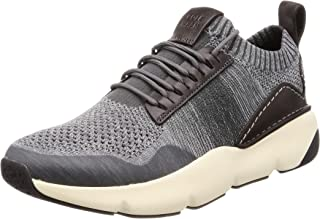 Cole Haan Men's Zerogrand All-Day Trainer with Stitchlite Grey Pinstripe / Quiet Shade/Sleet Knit/Black/Ivory 7. 5 D US C2...