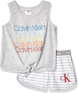 Girls' 2 Piece Sleepwear T-Shirt and Shorts Pajama Set Pj