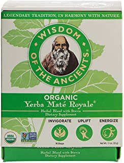 Wisdom of the Ancients Organic Yerba Maté Tea Bags, Royale, 1.1 oz