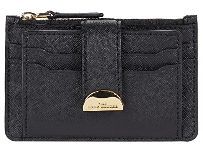 Marc Jacobs Half Moon Multi Card Case (Black) Handbags