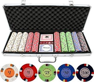 JPC 13.5g 500pc Lucky Horseshoe Clay Poker Chips Set