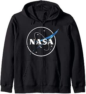 NASA Logo Outline Blue Space Color Streak Zip Hoodie