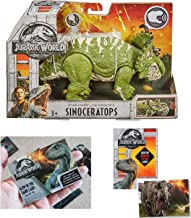 Jurassic World Roarivores Sinoceratops (Pachyrhinosaurus) Figure + One Premium Trading Card. Bundle Set of 2 Items