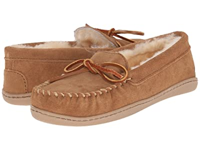 Minnetonka Sheepskin Hardsole Moc (Golden Tan) Women