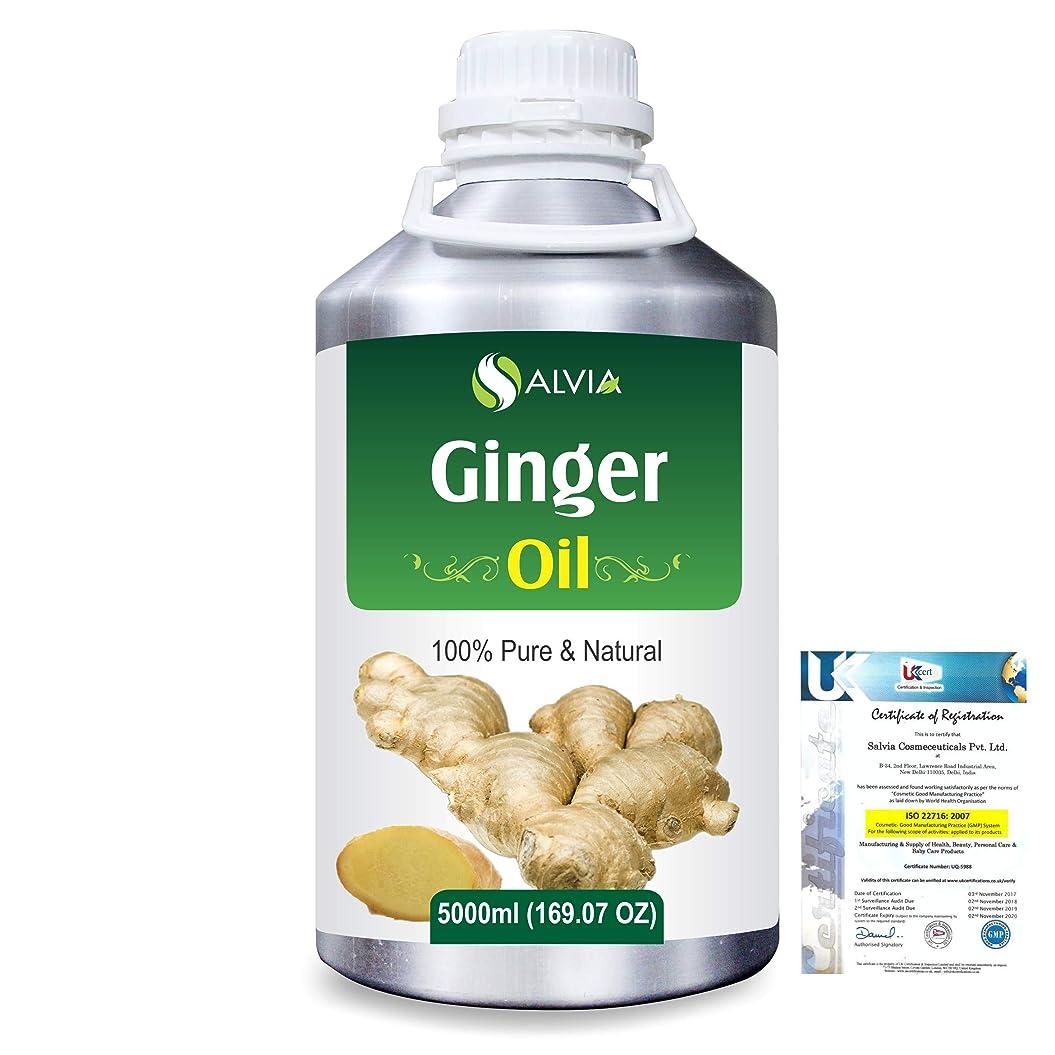 白雪姫チロ試すGinger (Zingiber officinale) 100% Natural Pure Essential Oil 5000ml/169fl.oz.