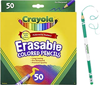 Crayola Erasable Colored Pencils, Back to School Supplies, 50 Count