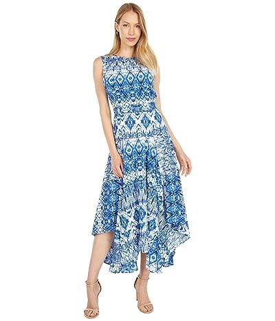Calvin Klein Printed Dress with Handkerchief Hem