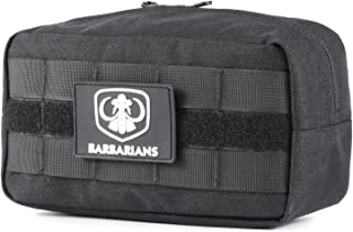 Barbarians Tactical MOLLE Utility Pouch Compact Horizontal, EDC Multi-Purpose Admin Pouch Bag