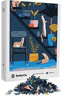 BetterCo. - Weasel Plant Care - Challenge Yourself with 1000 Piece Puzzle of Modern Succulents and Pet Weasels by Alexander Mostov for Adults, Teens, and Kids