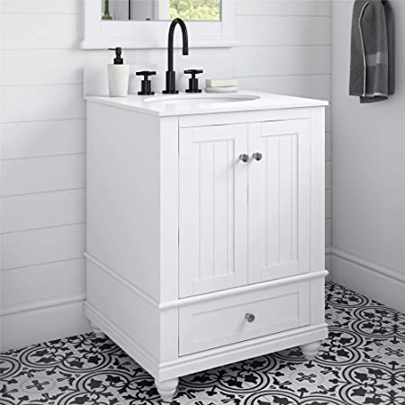 Dorel Living Otum 24 Bathroom Vanity White Furniture Decor