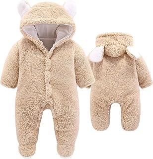 Newborn Baby Cartoon Bear Snowsuit Warm Fleece Hooded...
