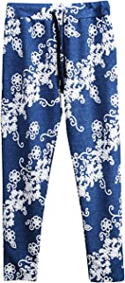 Mens Floral Baggy Training Pants Jogger Trousers Elasticity One Size