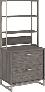 Bush Business Furniture Office by kathy ireland Method Lateral File Cabinet with Hutch, Cocoa