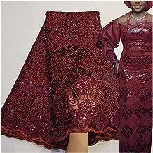 QMDSH Kant stof 5 yards touw borduurwerk borduurwerk jurk kleermakers kant materiaal (Color : Beige)