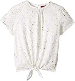 7 For All Mankind Kids - Short Sleeve Tie-Front Tee (Big Kids)