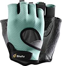 Glofit FREEDOM Workout Gloves, Knuckle Weight Lifting Shorty Fingerless Gloves with Curved Open Back, for Powerlifting, Gy...