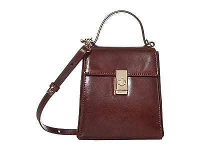 Brahmin Topsail Midge Crossbody (Espresso) Handbags