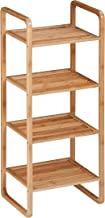 Honey-Can-Do SHF-02099 4-Tier Natural Bamboo Accessory Storage Shelf, 14 by 11 by 36-Inch