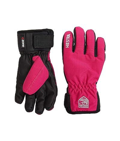 Hestra Ferox Primaloft Five Finger (Toddler) (Fuchsia) Ski Gloves