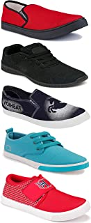 WORLD WEAR FOOTWEAR Sports Running Shoes/Casual/Sneakers/Loafers Shoes for Men Multicolor (Combo-(5)-1219-1221-1140-690-1024)