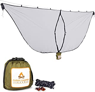 Cushy Camper Premium Hammock Mosquito Net - Portable Backpacking Protection - Large Hammock Bug Net Keeps Out Mosquitoes a...