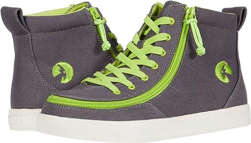 Charcoal/Acid Green