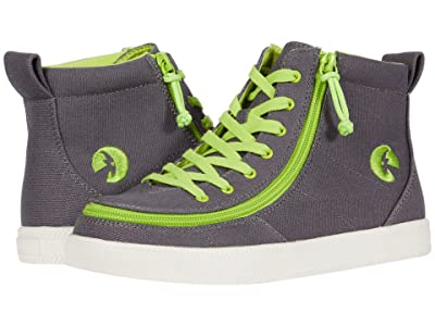 BILLY Footwear Kids Classic Lace High (Little Kid/Big Kid) (Charcoal/Acid Green) Boy